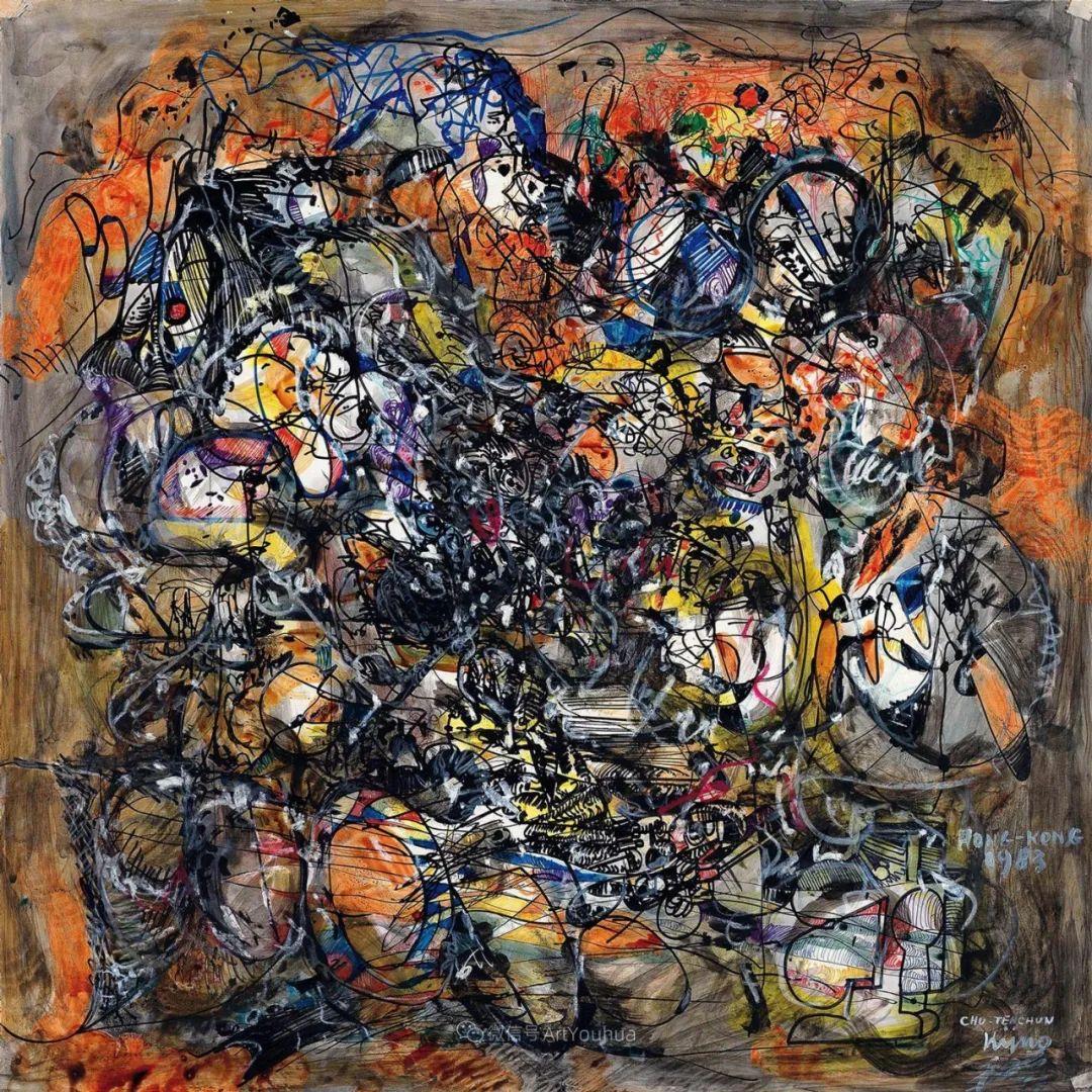 以色彩写诗,具象转抽象,朱德群作品欣赏 (高清)插图67