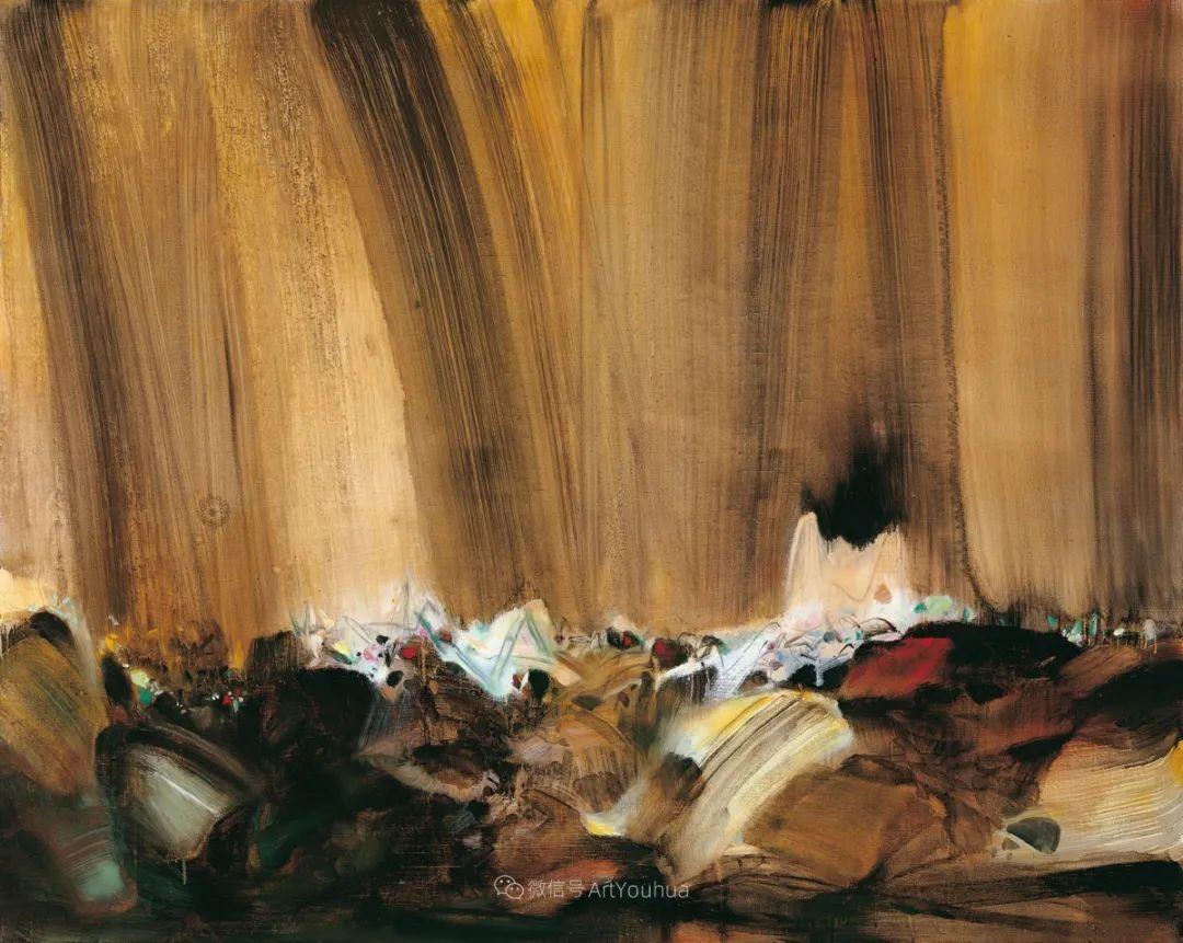 以色彩写诗,具象转抽象,朱德群作品欣赏 (高清)插图69