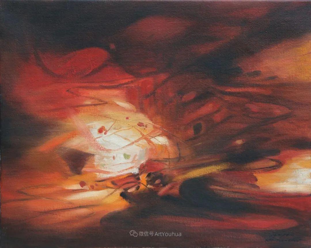 以色彩写诗,具象转抽象,朱德群作品欣赏 (高清)插图71