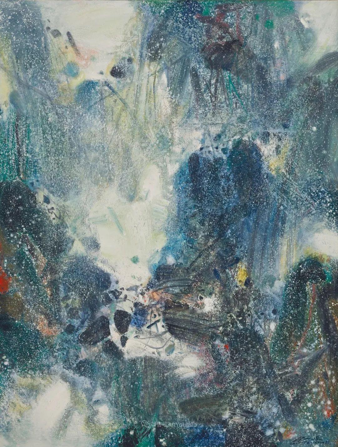 以色彩写诗,具象转抽象,朱德群作品欣赏 (高清)插图77