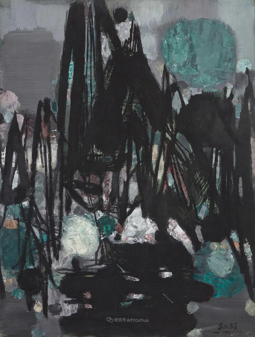 以色彩写诗,具象转抽象,朱德群作品欣赏 (高清)插图79
