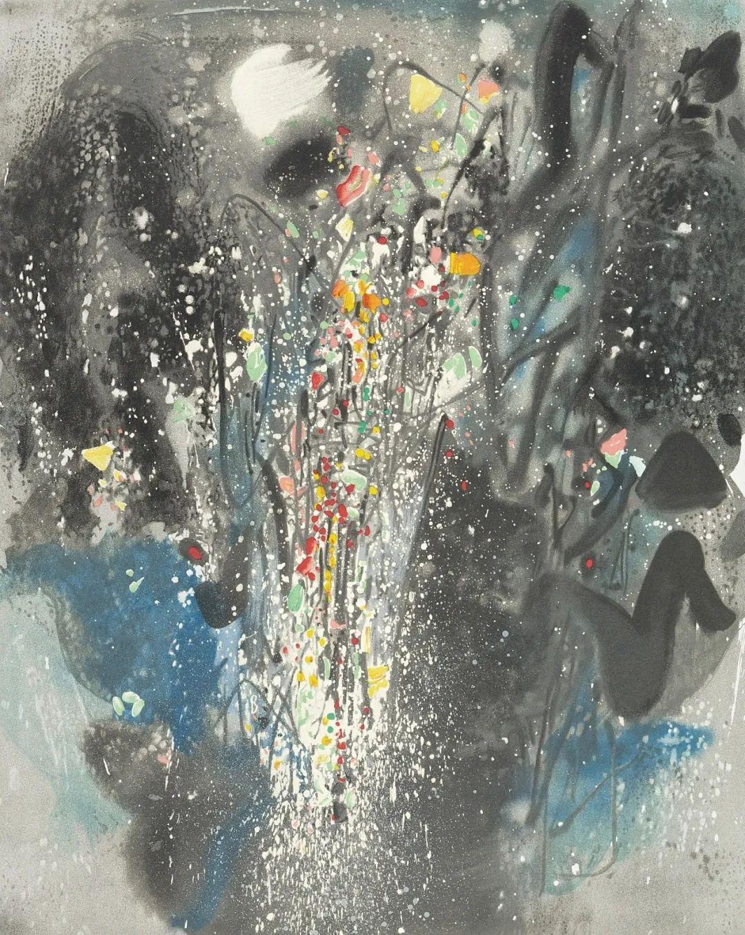 以色彩写诗,具象转抽象,朱德群作品欣赏 (高清)插图85