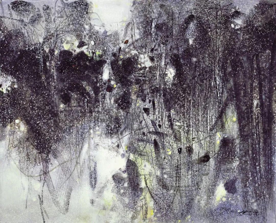 以色彩写诗,具象转抽象,朱德群作品欣赏 (高清)插图87