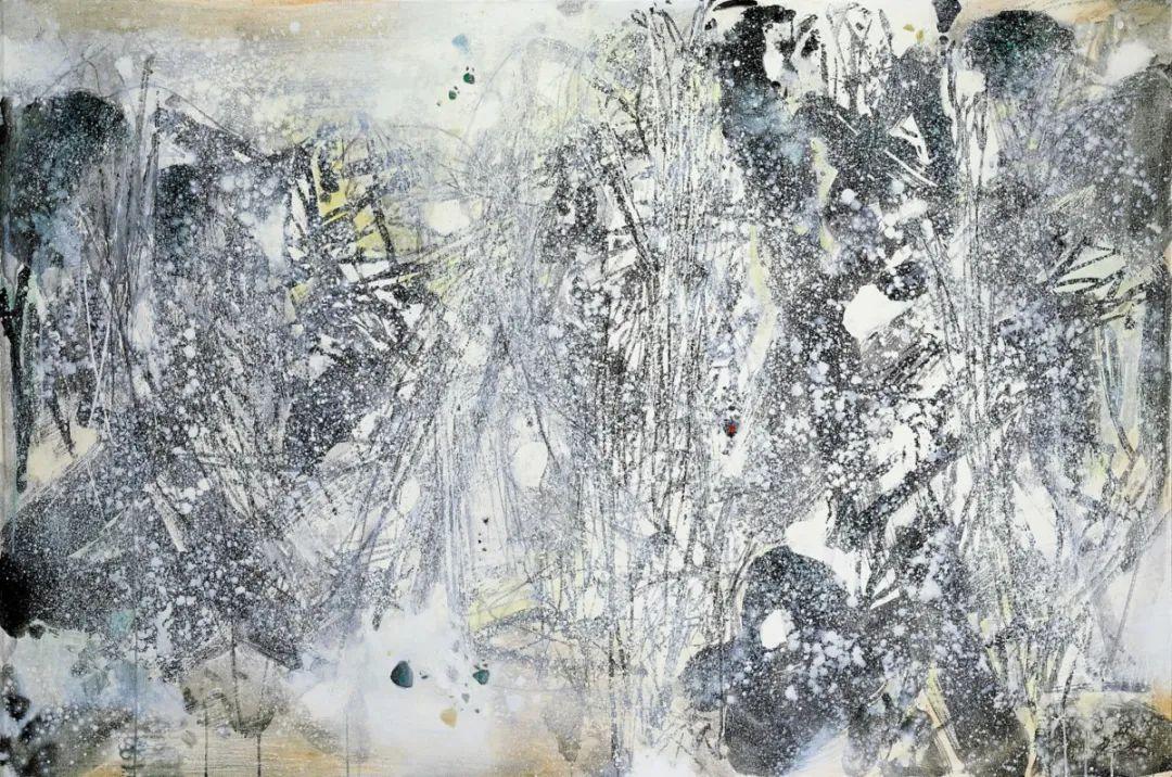 以色彩写诗,具象转抽象,朱德群作品欣赏 (高清)插图93
