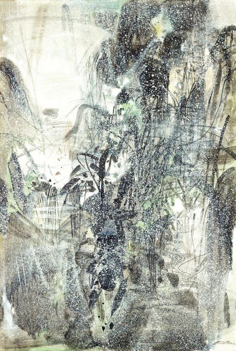 以色彩写诗,具象转抽象,朱德群作品欣赏 (高清)插图95
