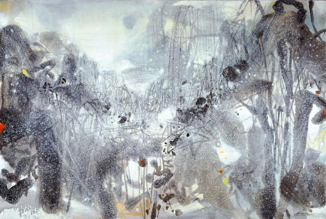 以色彩写诗,具象转抽象,朱德群作品欣赏 (高清)插图97