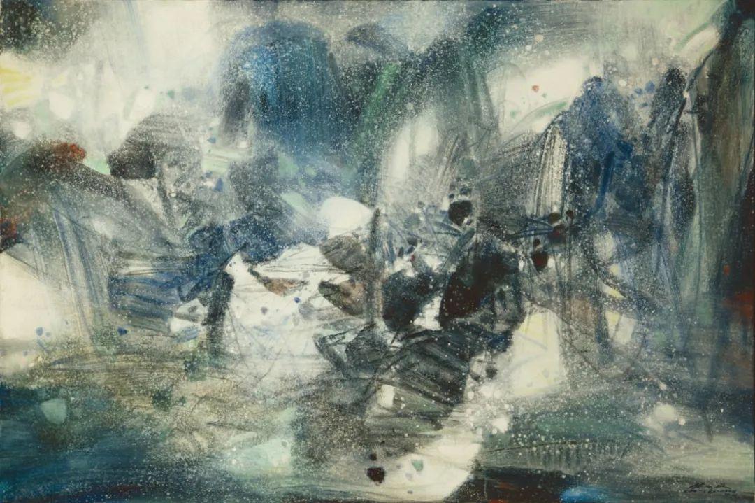 以色彩写诗,具象转抽象,朱德群作品欣赏 (高清)插图99