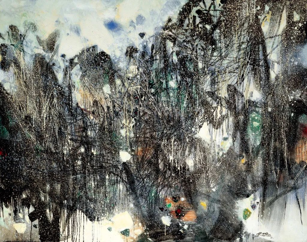 以色彩写诗,具象转抽象,朱德群作品欣赏 (高清)插图101