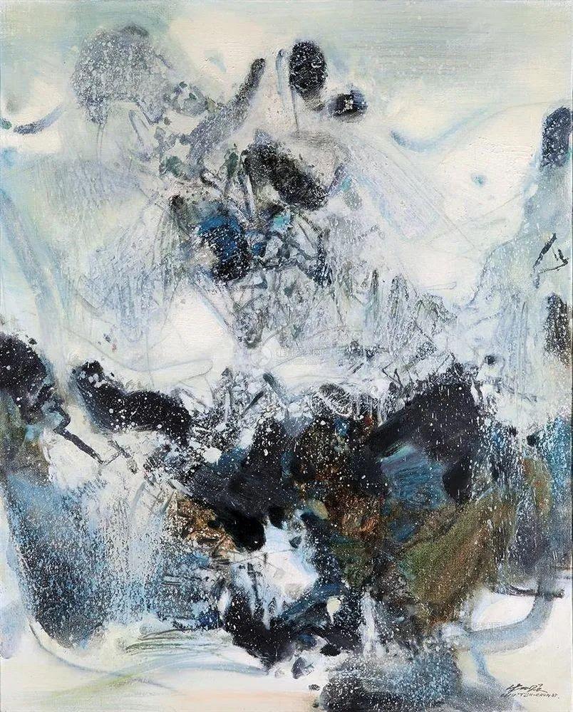 以色彩写诗,具象转抽象,朱德群作品欣赏 (高清)插图107