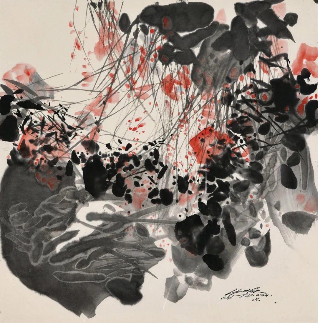 以色彩写诗,具象转抽象,朱德群作品欣赏 (高清)插图109