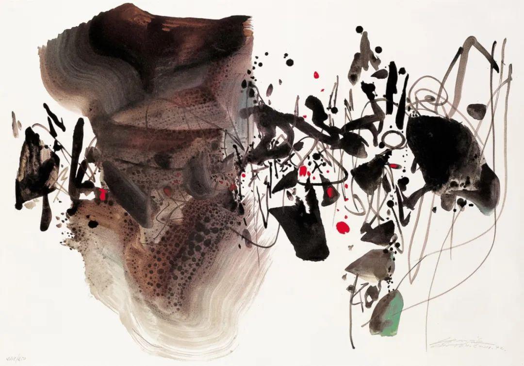 以色彩写诗,具象转抽象,朱德群作品欣赏 (高清)插图111