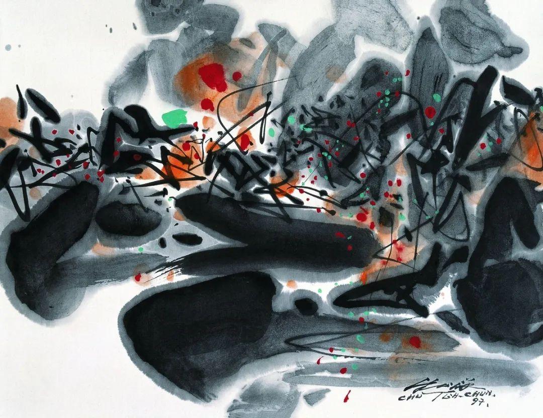 以色彩写诗,具象转抽象,朱德群作品欣赏 (高清)插图113