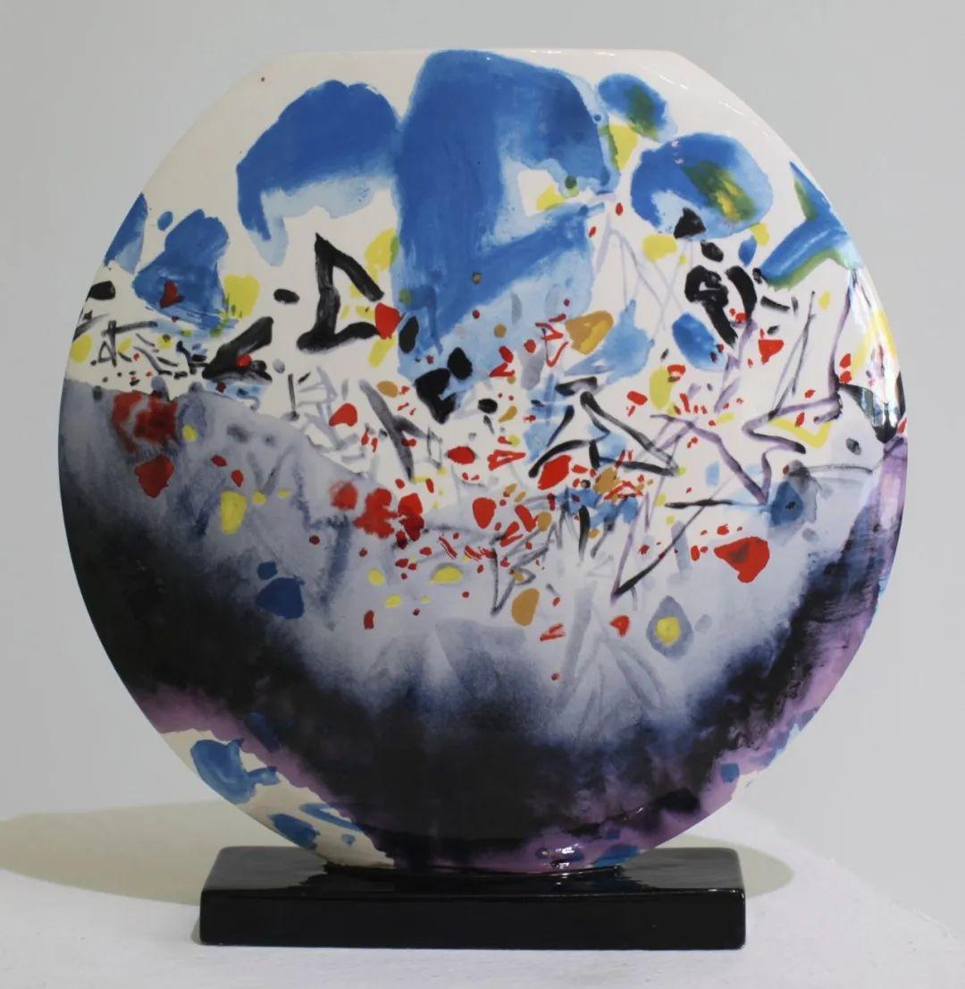 以色彩写诗,具象转抽象,朱德群作品欣赏 (高清)插图115