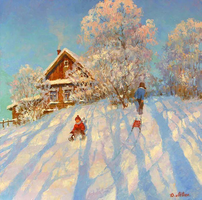 画面充满了阳光感,俄罗斯风景画家Dmitry Levin插图1
