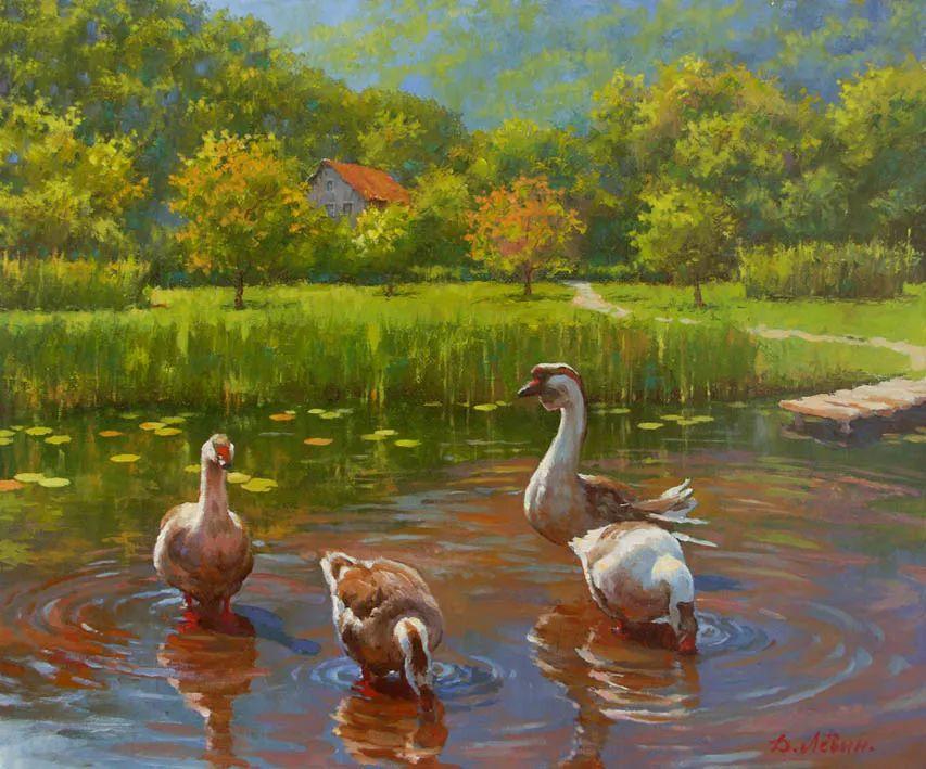 画面充满了阳光感,俄罗斯风景画家Dmitry Levin插图25