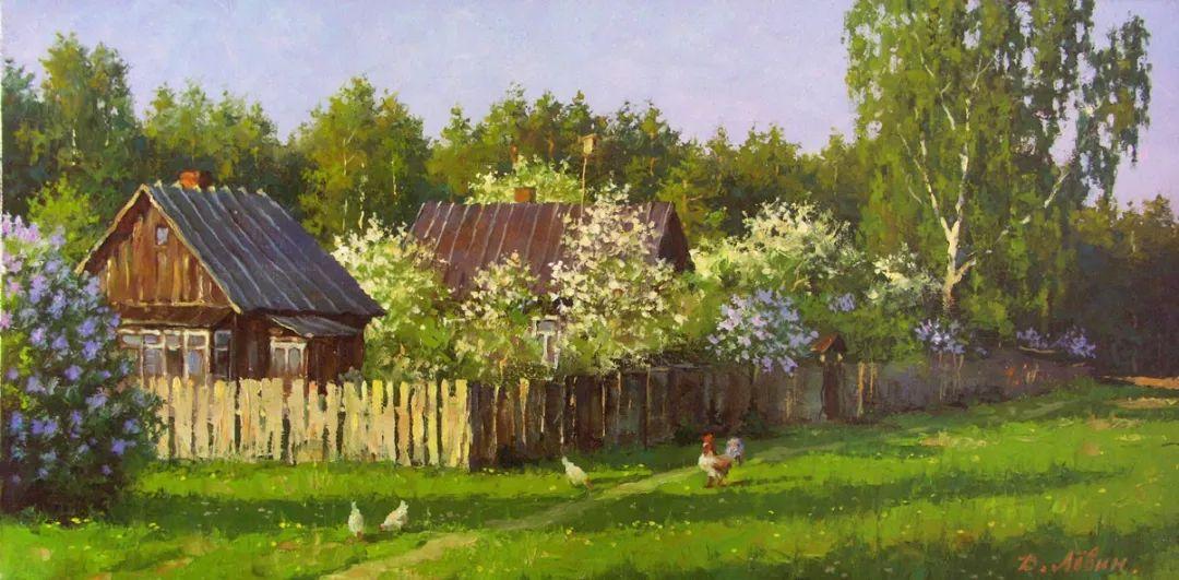 画面充满了阳光感,俄罗斯风景画家Dmitry Levin插图35