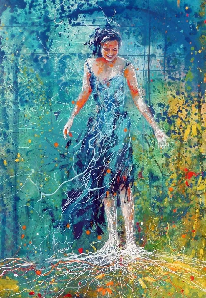 多彩肖像,法国画家Ismael Costa插图