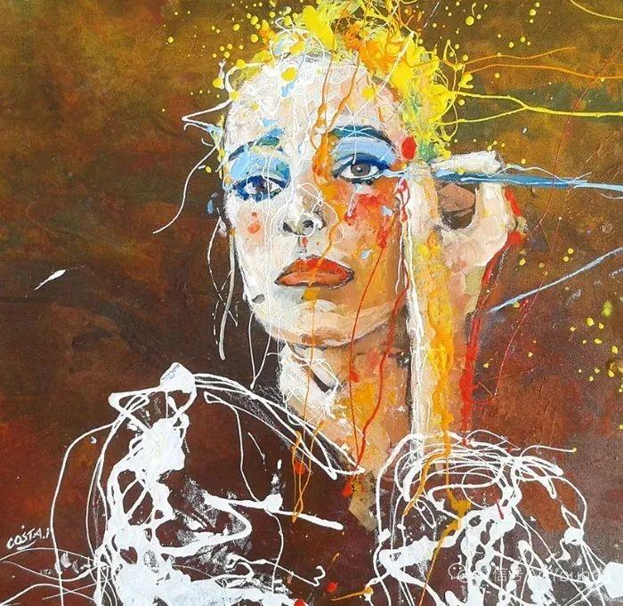 多彩肖像,法国画家Ismael Costa插图1