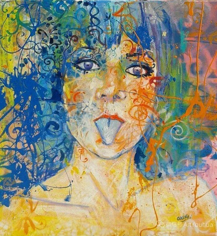 多彩肖像,法国画家Ismael Costa插图5