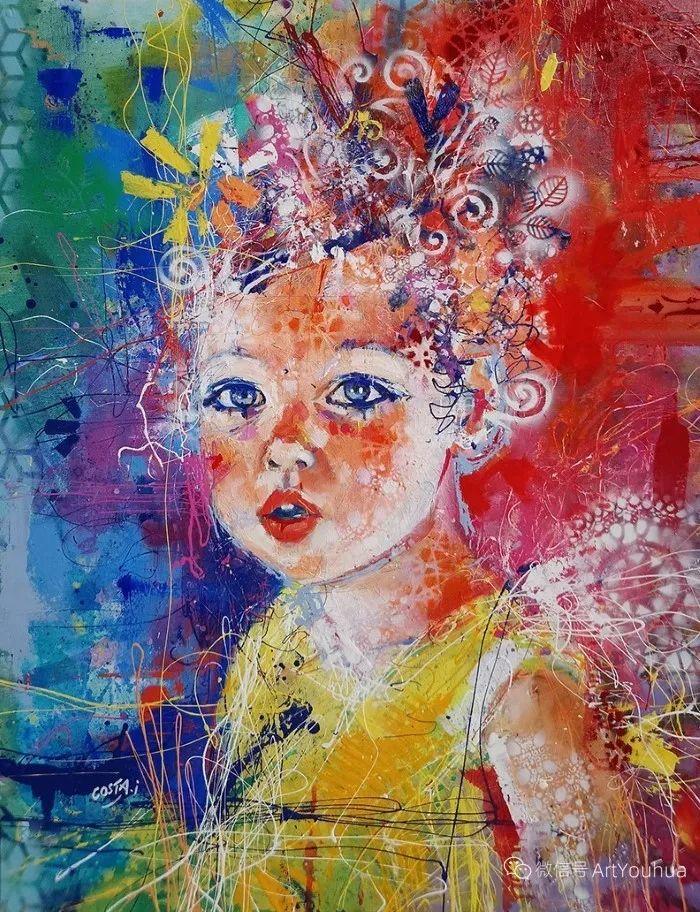 多彩肖像,法国画家Ismael Costa插图10