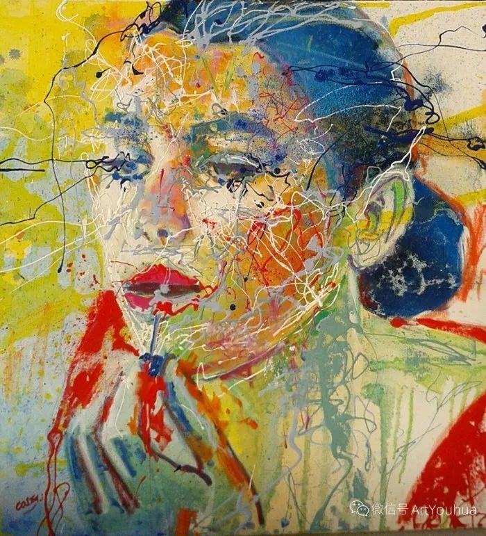 多彩肖像,法国画家Ismael Costa插图12