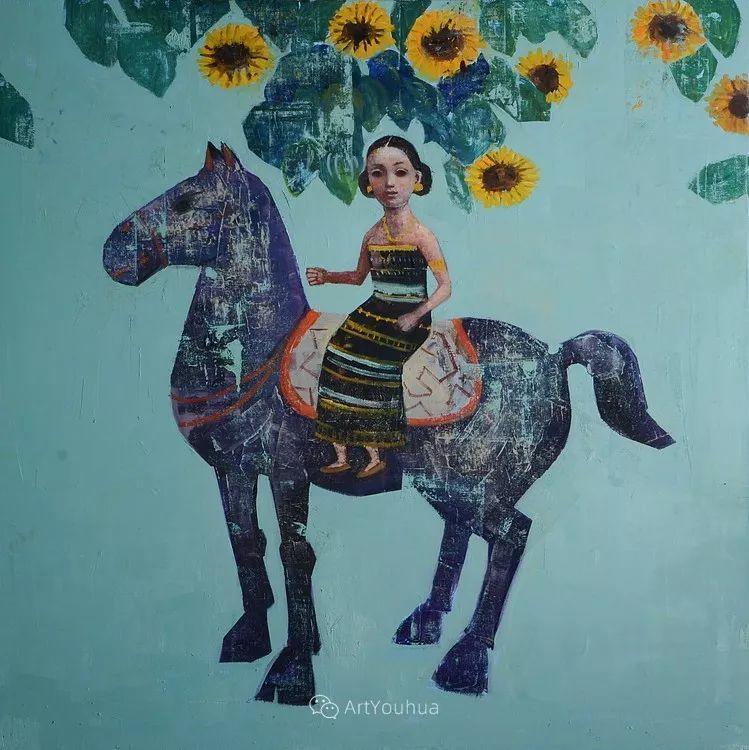 俏皮的具象,热情的色彩,美籍韩裔艺术家Rimi Yang插图183