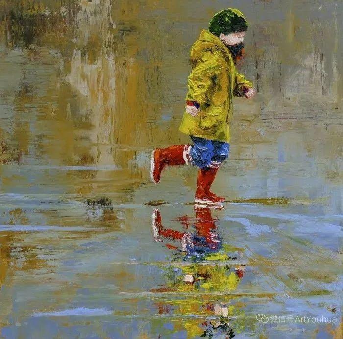 海边玩耍的小孩,法国艺术家Patricia Debuchy插图15