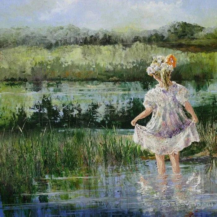 海边玩耍的小孩,法国艺术家Patricia Debuchy插图25