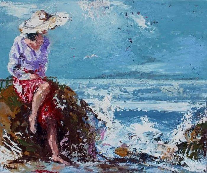 海边玩耍的小孩,法国艺术家Patricia Debuchy插图27