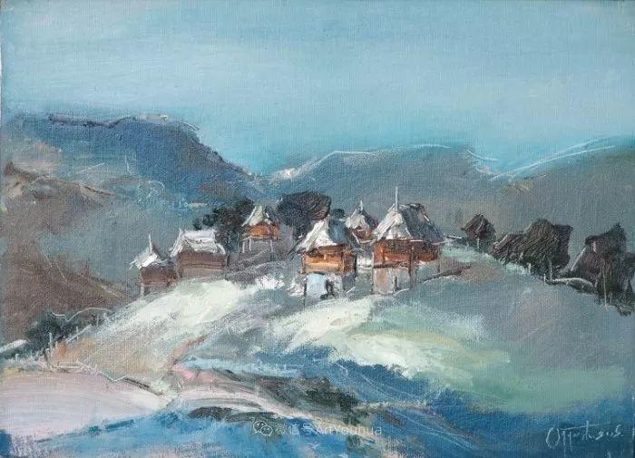 塞尔维亚风景画家,奥丹尼·德拉甘插图4