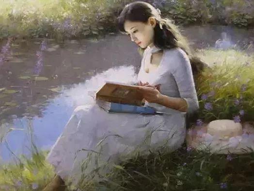 油画里致美的书香女人插图3