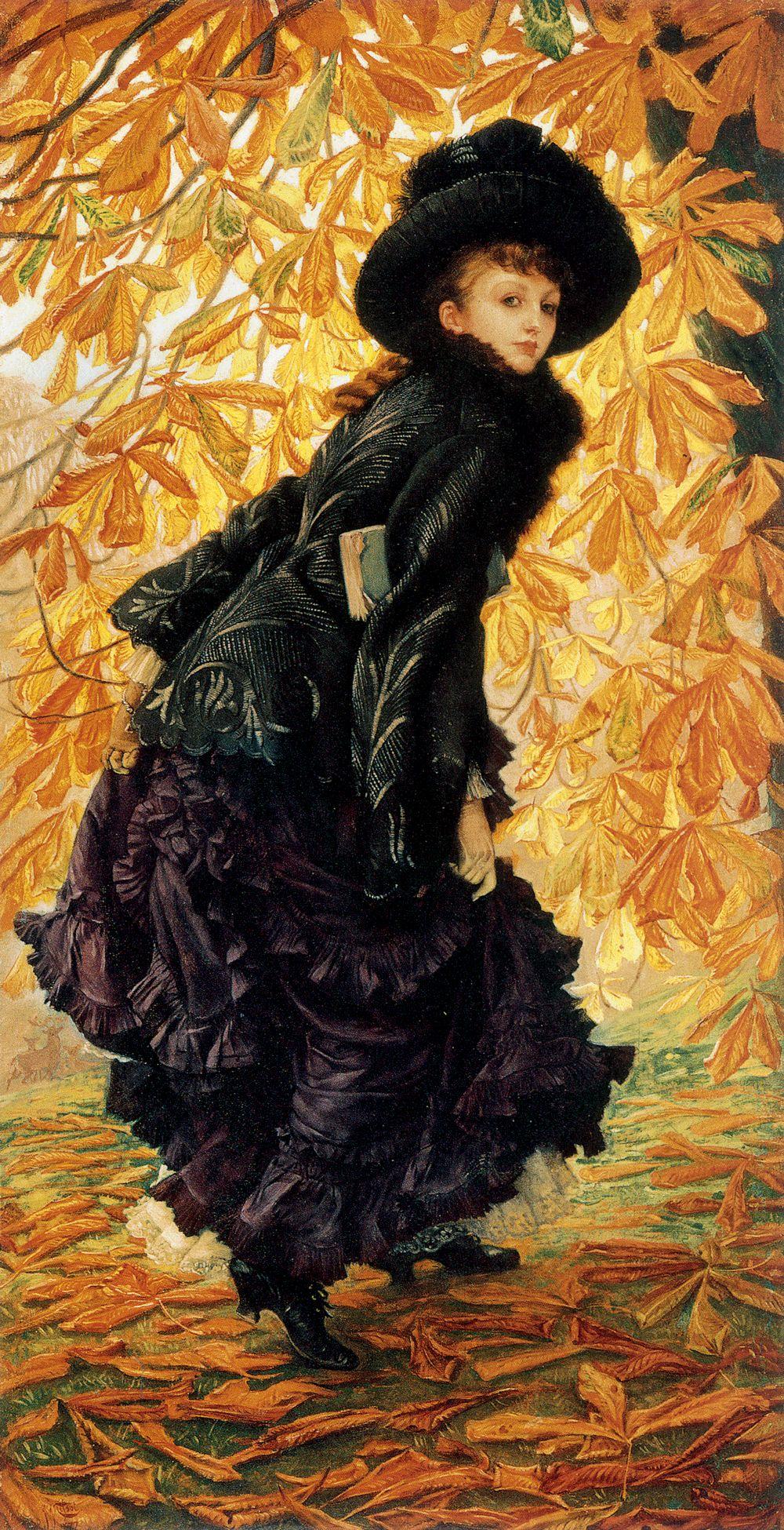 油画里致美的书香女人插图6