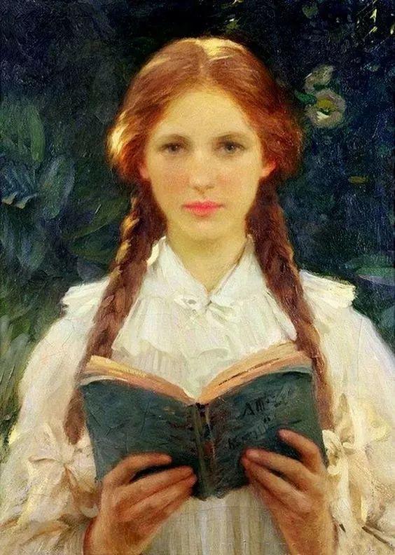 油画里致美的书香女人插图17
