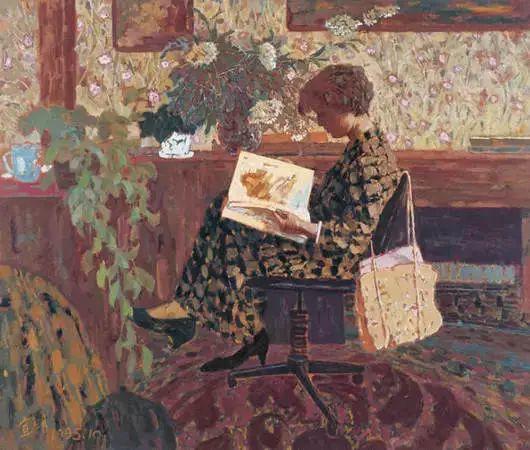 油画里致美的书香女人插图18