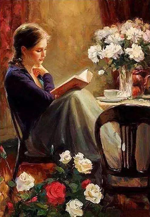 油画里致美的书香女人插图23