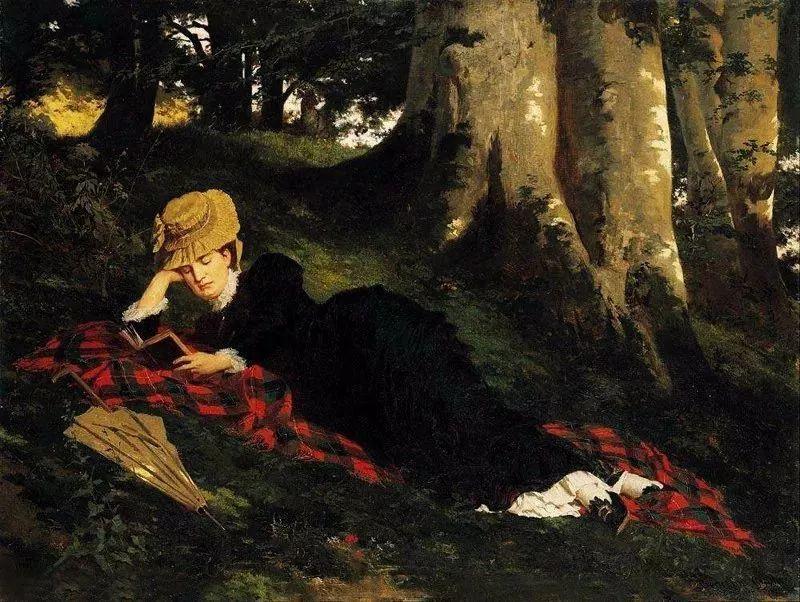 油画里致美的书香女人插图24