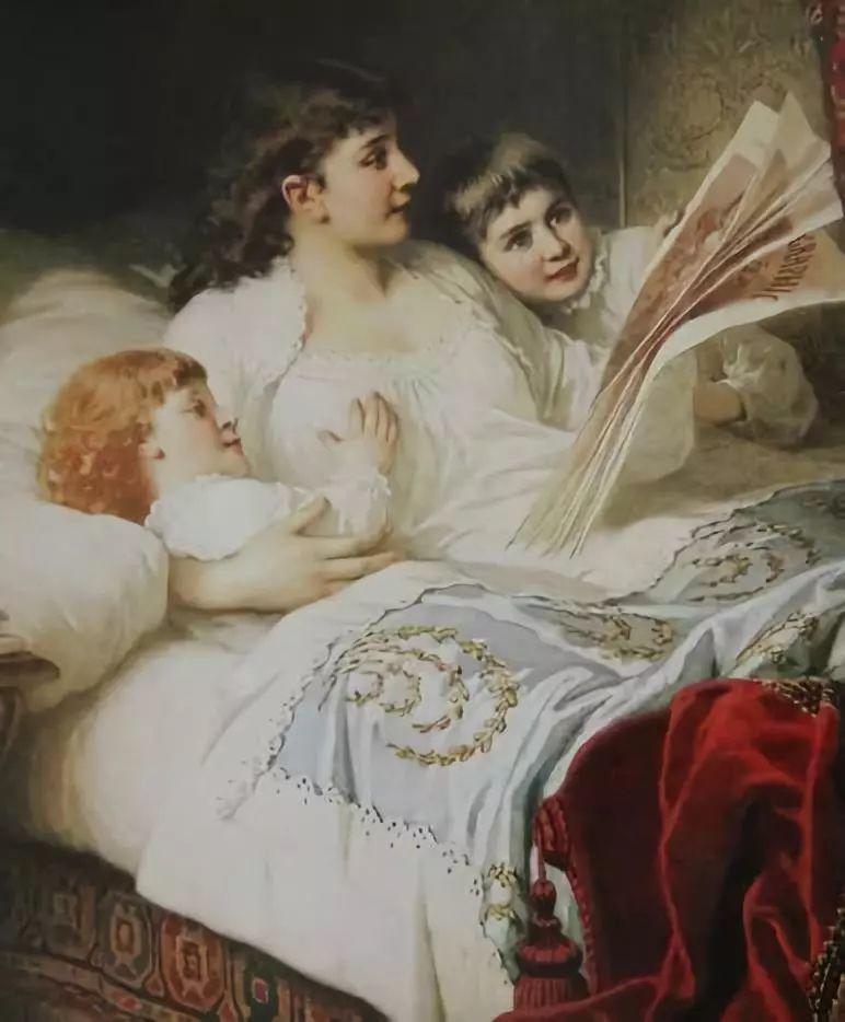 油画里致美的书香女人插图27