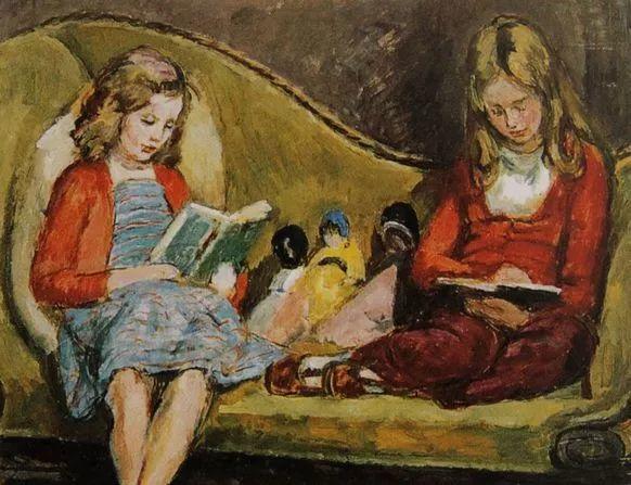 油画里致美的书香女人插图28