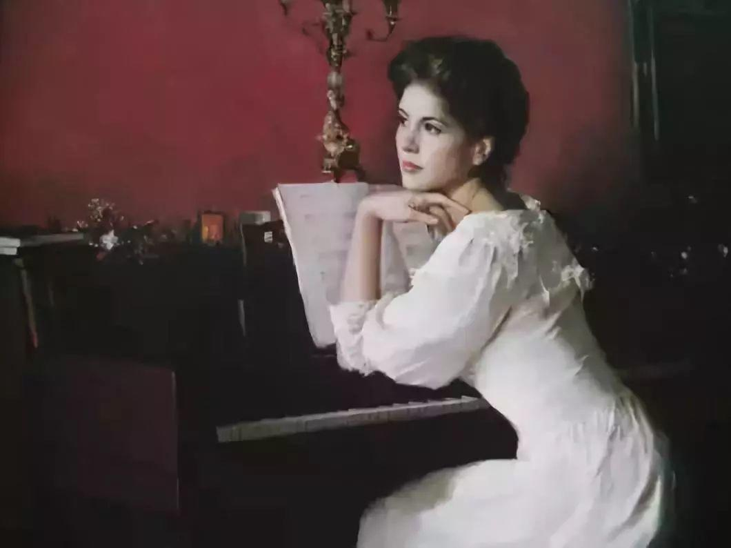 油画里致美的书香女人插图30