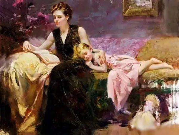 油画里致美的书香女人插图31