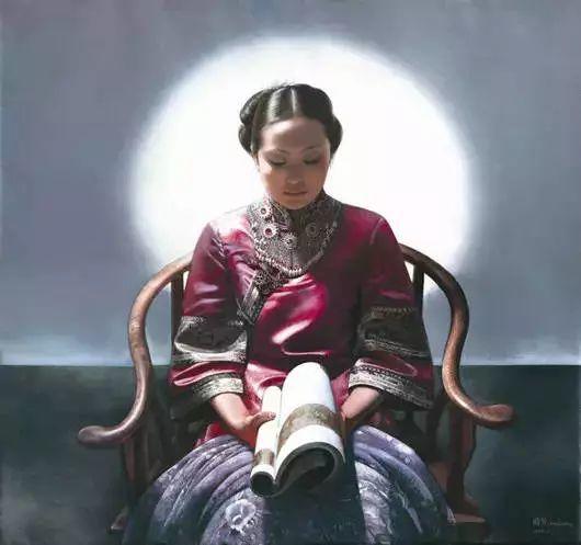 油画里致美的书香女人插图33
