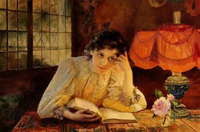 油画里致美的书香女人插图34