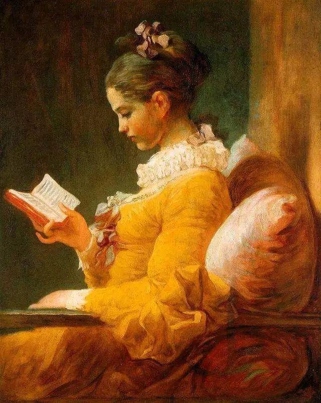 油画里致美的书香女人插图35