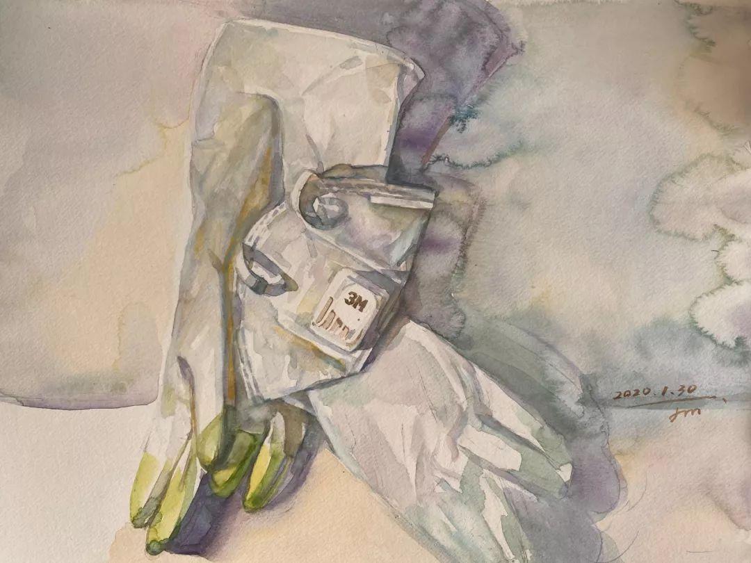 疫情当前,九大美院及千名画家用作品为武汉加油!看后暖哭了…插图13