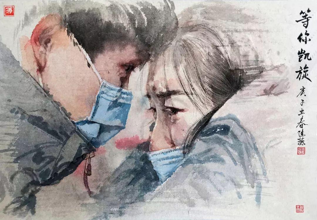 疫情当前,九大美院及千名画家用作品为武汉加油!看后暖哭了…插图14