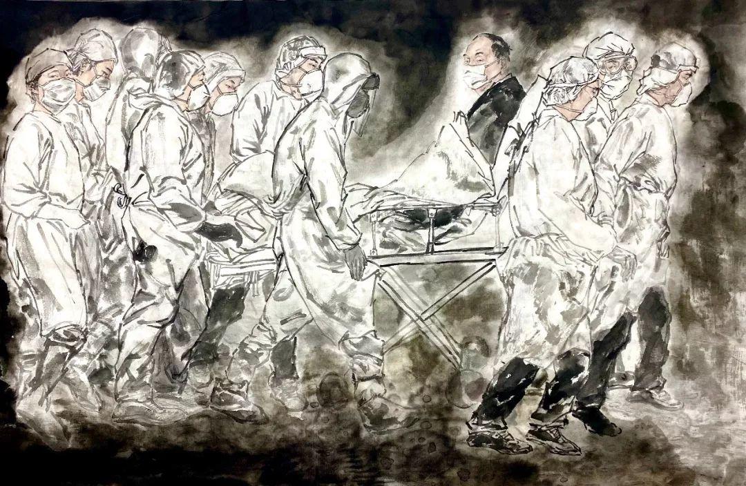 疫情当前,九大美院及千名画家用作品为武汉加油!看后暖哭了…插图24