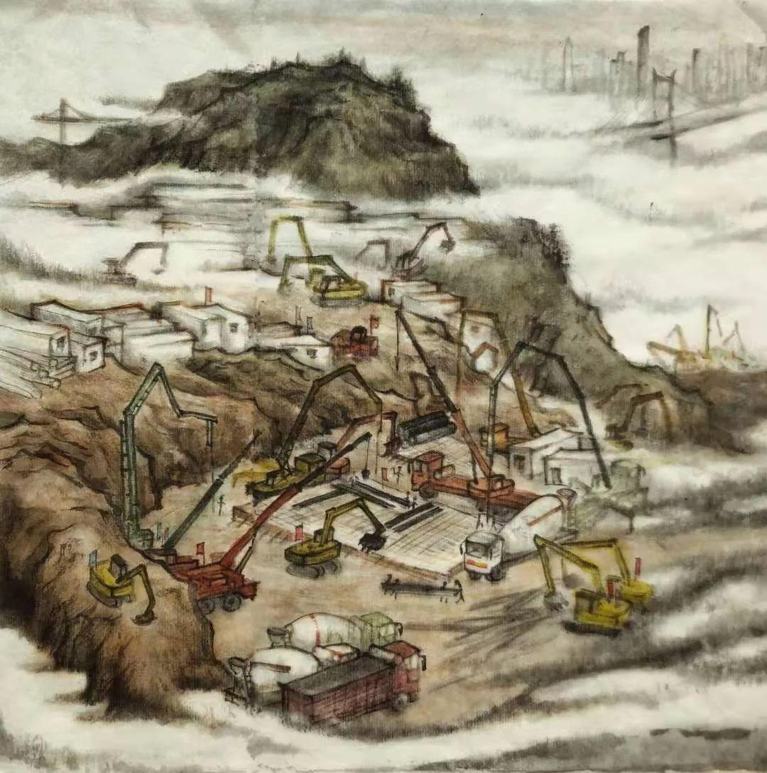 疫情当前,九大美院及千名画家用作品为武汉加油!看后暖哭了…插图27