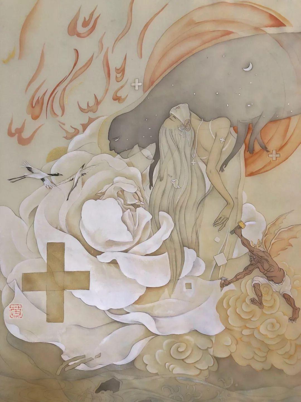 疫情当前,九大美院及千名画家用作品为武汉加油!看后暖哭了…插图28