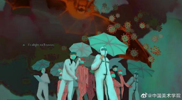 疫情当前,九大美院及千名画家用作品为武汉加油!看后暖哭了…插图31