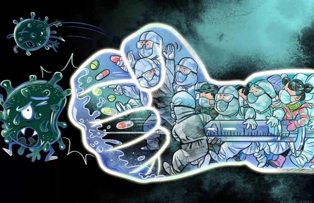 疫情当前,九大美院及千名画家用作品为武汉加油!看后暖哭了…插图48